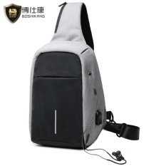 BOSHIKANG Anti-theft Men Chest Bag Waterproof Oxford Travel Bag Casual  Crossbod Bag Fashion Messenger 1c296015b2