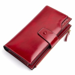 BOSTANTEN Oil Wax Cowhide Genuine Leather Women Wallet Phone Coin Purse Wallet Female Card Holder Lady Clutch Carteira Feminina - intl