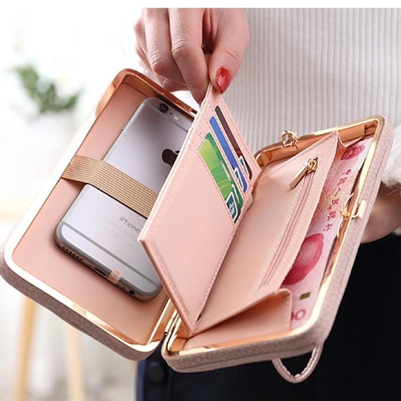 ... PU Leather Clutch Ladies Purses 2017 Fashion Phone Pocket Hasp Dollar Price Wallet Women Big PursePHP520 · PHP 520