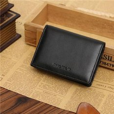 Broadfashion Men Faux Leather Wallet Bifold ID Credit Card Holder Mini Purse Money Clip Slot