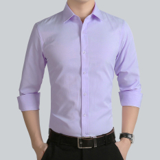 954302cb6989 Spring Brothers  Group a Best Man Service Shirt Men Long Sleeve Thin Pink  Marriage Formal