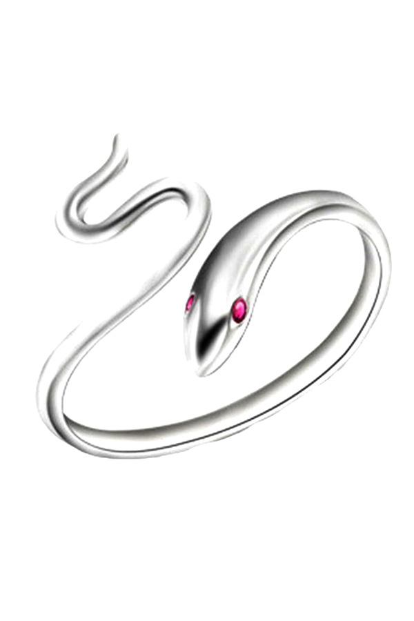 Buytra 925 Sterling Silver Lady Ring Opening Adjustable Snake