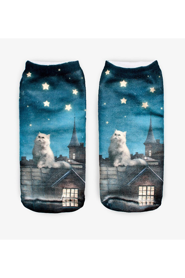 Buytra Unisex Socks 3D Printed Animal Casual Cute Low Cut Magic Cat product preview, discount at cheapest price