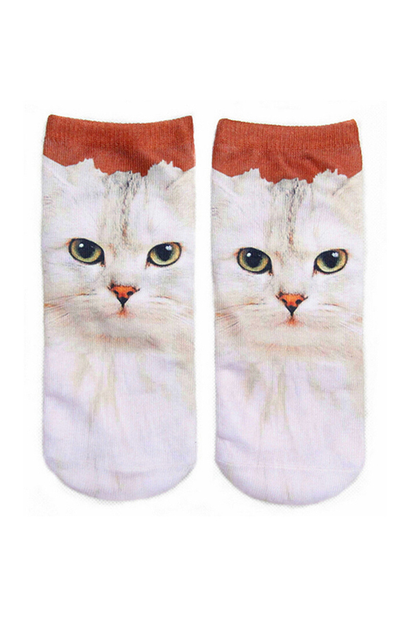 Buytra Unisex Socks 3D Printed Animal Casual Cute Low Cut Red Cat product preview, discount at cheapest price