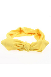 Buytra Wide Ribbon Headband (Yellow)