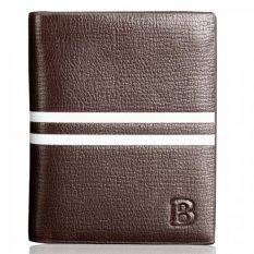 BYT Baellery Western Style Multi Slots Slim Men Wallet Money Purse Vertical Pattern BLR1866 (Brown
