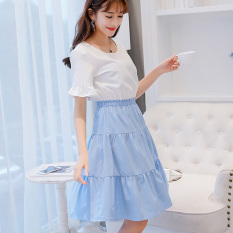 Caidaifei 2018 Spring And Summer New Style Korean Style Slimming Women's Short Sleeve Shirt Slim Fit