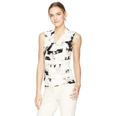 b52b1556 Calvin Klein Womens Printed Knot Neck Cami, Khaki/Multi, XL - intl