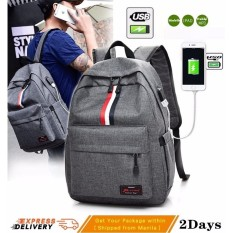 Fast Delivery USB Charger Anti Theft Waterproof Canvass Backpack for Women  Men Laptops Notebook a3239deb936b9