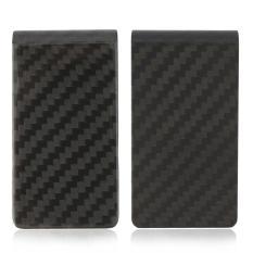 Philippines Yixiangqing Minimalist Carbon Fiber Slim Wallet Money Source · Carbon Fiber Money Clip Matte Black Credit Card Holder Money Wallet intl