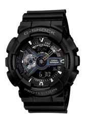 Casio G-Shock Men's Black Resin Strap Watch GA-110-1B