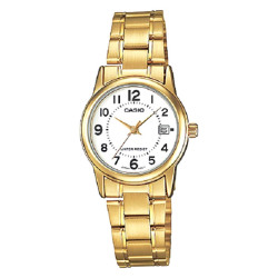 Casio Analog LTP-V002G-7B Gold Stainless Steel Band Women's Watch
