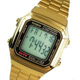Casio Unisex Gold Stainless Steel Strap Watch 178WGA-1A - thumbnail 1