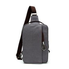 Casual Canvas Unbalance Backpack Sling Shoulder Bag Men Chest Bag Gray -  intl 6e459ea58c161