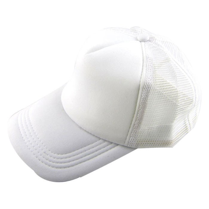 Casual Hat Solid Baseball Cap Trucker Mesh Blank Visor Hat White product preview, discount at cheapest price