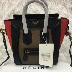 Greatdealz Celine Paris Nano Size Luggage Tote Bag Black Red Brown