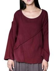 20fba0cbbd Celmia 5XL 2018 Spring Womens Oversized Cotton Linen Blouse O Neck Long  Sleeve Blusas Split Baggy