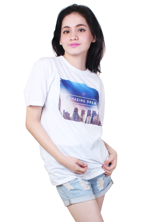 Chasing Dream Quotable Printed White Shirt