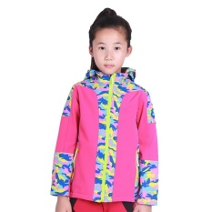 Children Autumn Winter Outdoor Hiking Mountain Climbing Jacket Waterproof Windproof Warm Fleece Kids Girl Windbreaker Coat