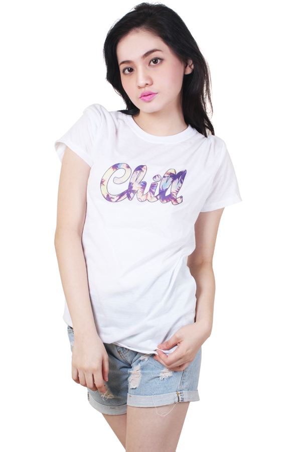 Chill Quotable Printed White Shirt