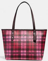 af0b0e26c1e2 COACH MINI CITY ZIP TOTE WITH SHADOW PLAID PRINT Philippines