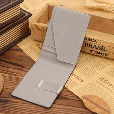 CocolMax Mens Leather Magic Credit Card ID Holder Money Clip Wallet Grey - intl