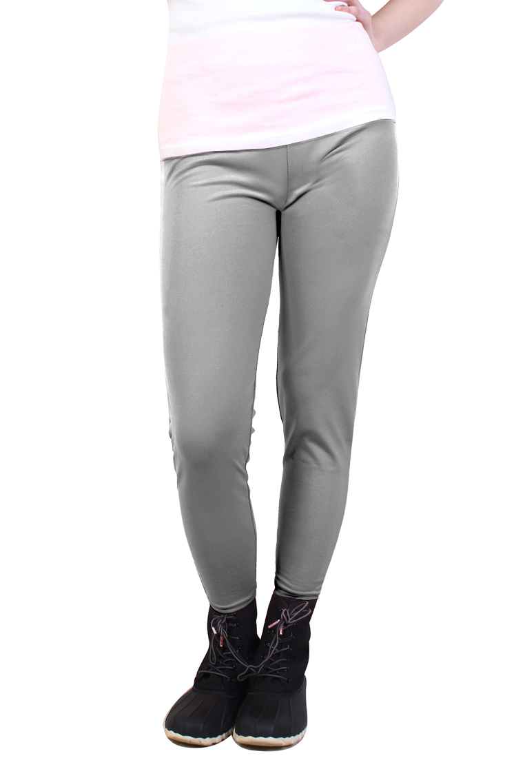 Cotton Republic Fashionable Plain Leggings (Gray)