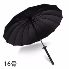 Creative Windproof Waterproof Japanese Samurai Ninja Umbrella Sun Rain Golf Umbrellas Black Handle(16k) - Intl By Tozeros Store.
