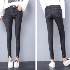 CStore 2017 Autumn New Style Jeans Women Korean Fashion Ultra Elastic Casual Skinny Jeans - intl