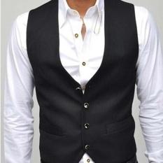 CStore New Korean Version Of Pure Color V Collar Slim Mens Vest - intl