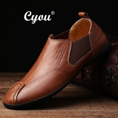 PHP 1.169. Cyou 2017 New Arrivals Genuine Leather Slip-Ons & Loafers Fashion Casual Shoes for Men Kasut Kulit Asli Lelaki ...