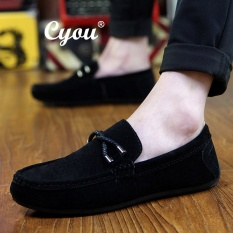 3293740bc07 Cyou 2017 New Arrivals Men s Slip-Ons   Loafers Fashion Cow Suede Leather  Shoes Lelaki