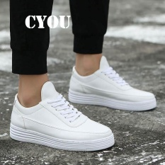 74a3136f44f CYOU High Quality Men PU Leather Shoes Classic Fashion Low Top Men's Casual  Shoes Breathable Men