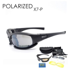 643d4b1fb15b DAISY X7 Goggles 4LS Men Military polarized Sunglasses Bullet-proof outdoor  camping Gafas smoke lens