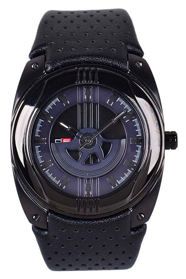 D.Factory Men's Black Pure Leather Strap Watch DFI021 YBB product preview, discount at cheapest price