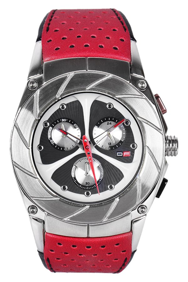 D.Factory  Men's Red Leather Strap Watch DFM018 XBR product preview, discount at cheapest price