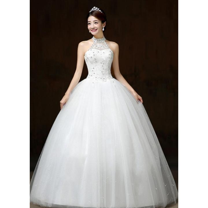 Diamond Wedding Gown: Diamond Wedding Dress Lace Wedding Gown - Intl