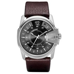 Diesel Men's Brown Calfskin Strap Watch DZ1206