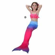 DN Bikini Set Bathing Swimming Wear Color Block Mermaid Tail Swimsuit for 3-8Y Baby Girl Kids SM009 - intlPHP1000. PHP 1.000