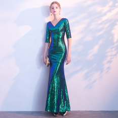Graceful And Noble Sequin Women New Style Evening Gown