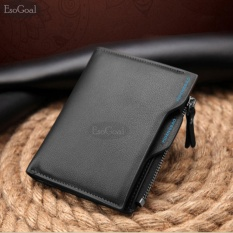 EsoGoal Business Men Wallets Solid Man PU Leather Purse Long Bifold Wallet Portable Cash Coin Purses