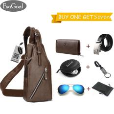 EsoGoal Sling Bag Anti Theft Shoulder Crossbody Lightweight Chest Bag 6 Presents (Long Wallet,