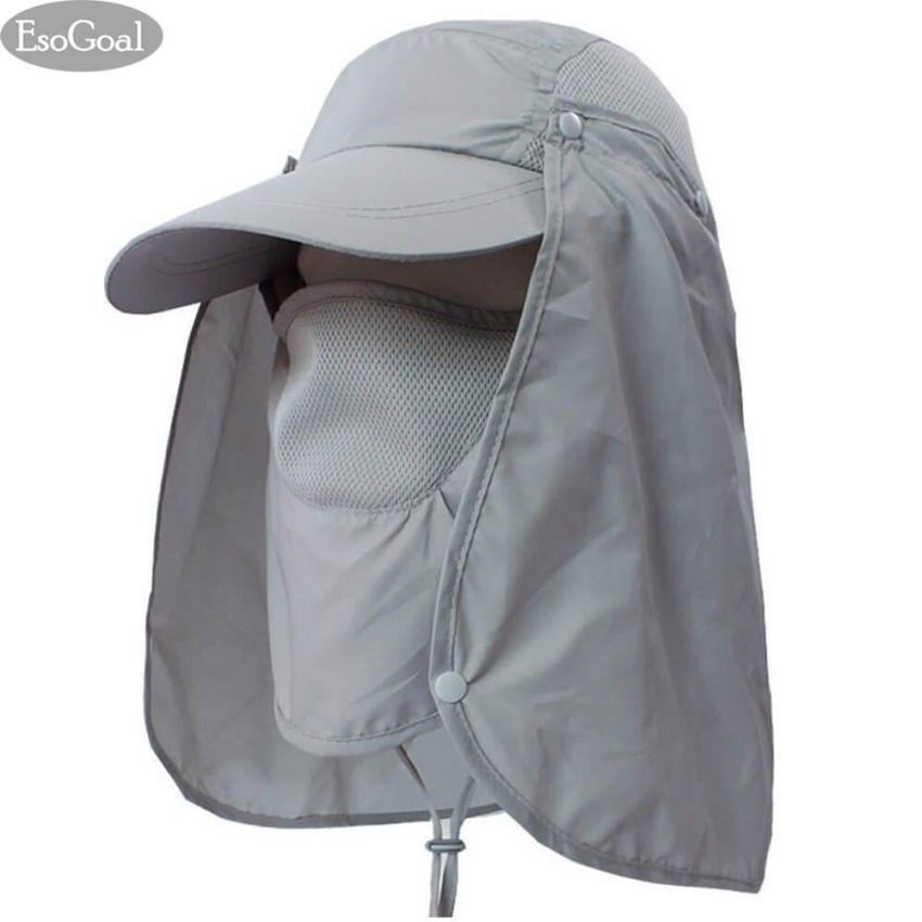 06a5bf309db EsoGoal Summer Sun Hat Protection Caps Flap 360°Outdoor Fishing Hat With  Removable Neck Face