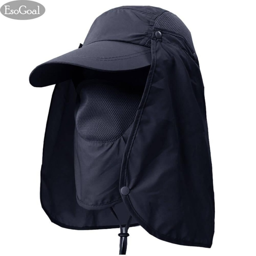 475180c9f1185 EsoGoal Summer Sun Hat Protection Caps Flap 360°Outdoor Fishing Hat With  Removable Neck Face