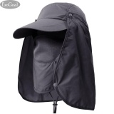 Unisex Flap Sun Hat Removable Neck Face Flap Cover Caps for Outdoor OK 01