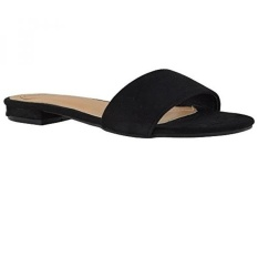 16afe1837a55 PHP 3.385. Essex Glam Women s Black Faux Suede Casual Flat Slip On ...