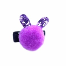 0610548c3b Fancyqube 1 pc Small Ball Rabbit Ears Kids Hairpins Baby Hair Clips  Princess Children Headwear Girls