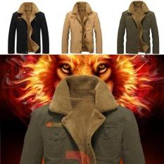 558e389b4 Fantastic Flower Hot Sale Plus Size Bomber Air Force Pilot Warm Male Fur  Collar Army Jacket Tactical Mens Jacket Winter SIZE:M-5XL-Black-L - intl