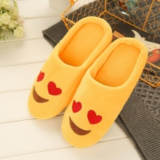PHP 211. Fashion Embroidery Cute Expression Women Men Winter Warm Slippers House ...