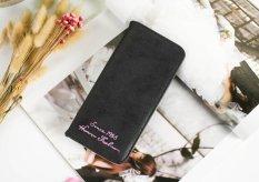 Fashion Lady Women Leather Purse Clutch Wallet Bag Long Card Holder Case ultrathin Handbag Black -